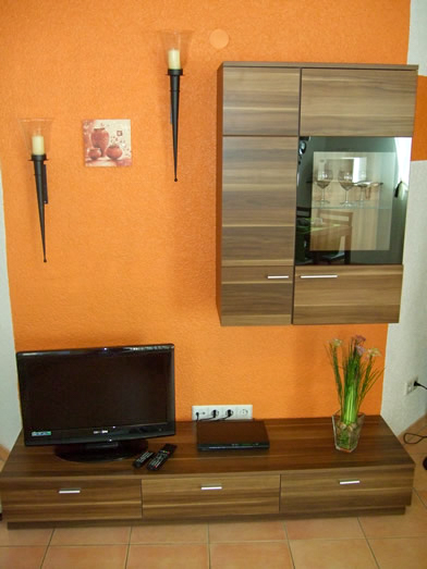 Wohnzimmer Ferienwohnung Im Holzhaus Donaueschingen